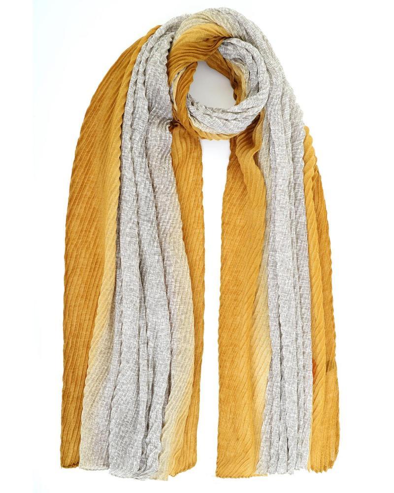 Yellow foulard-stole