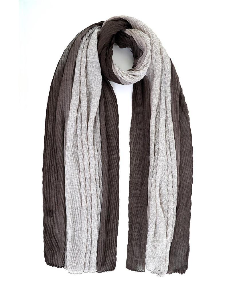 Black foulard-stole