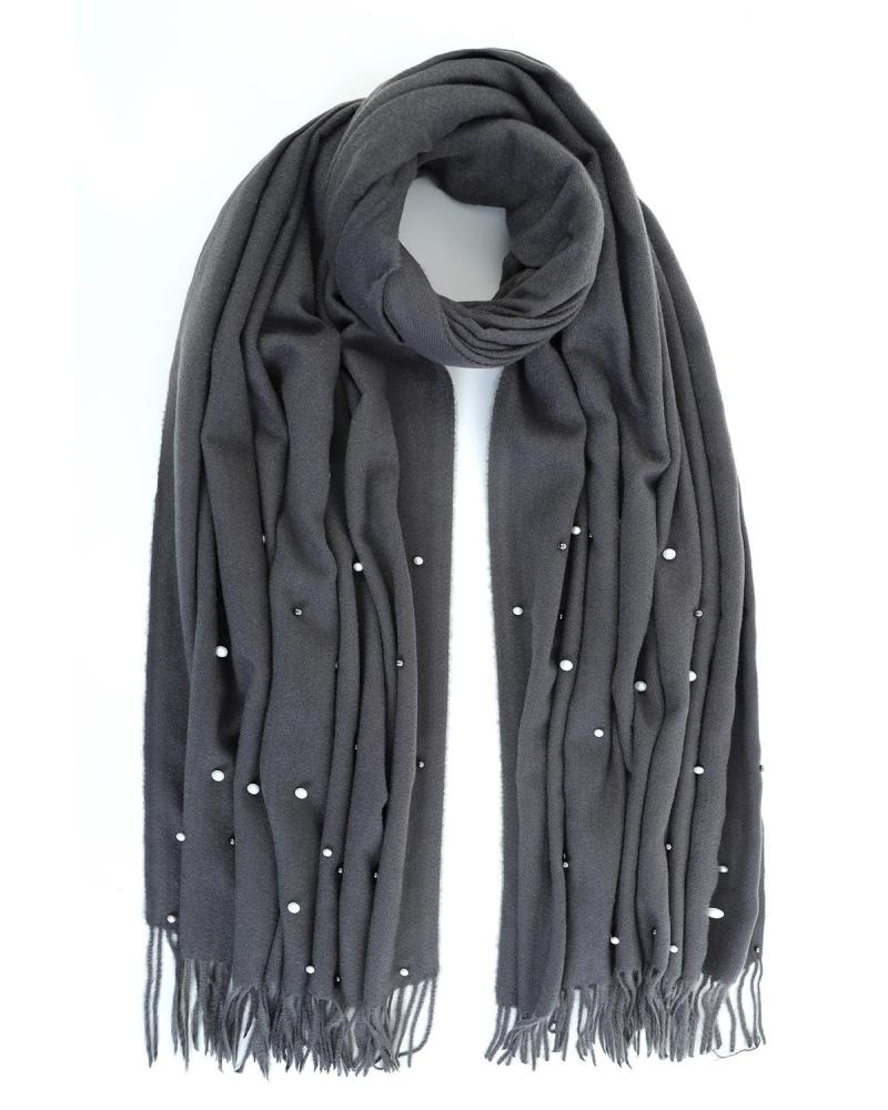 Pashmina-Schal grau