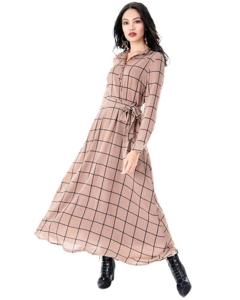Braun Kleid