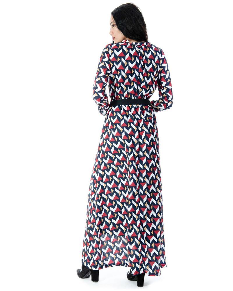 Mehrfarbiges Kleid