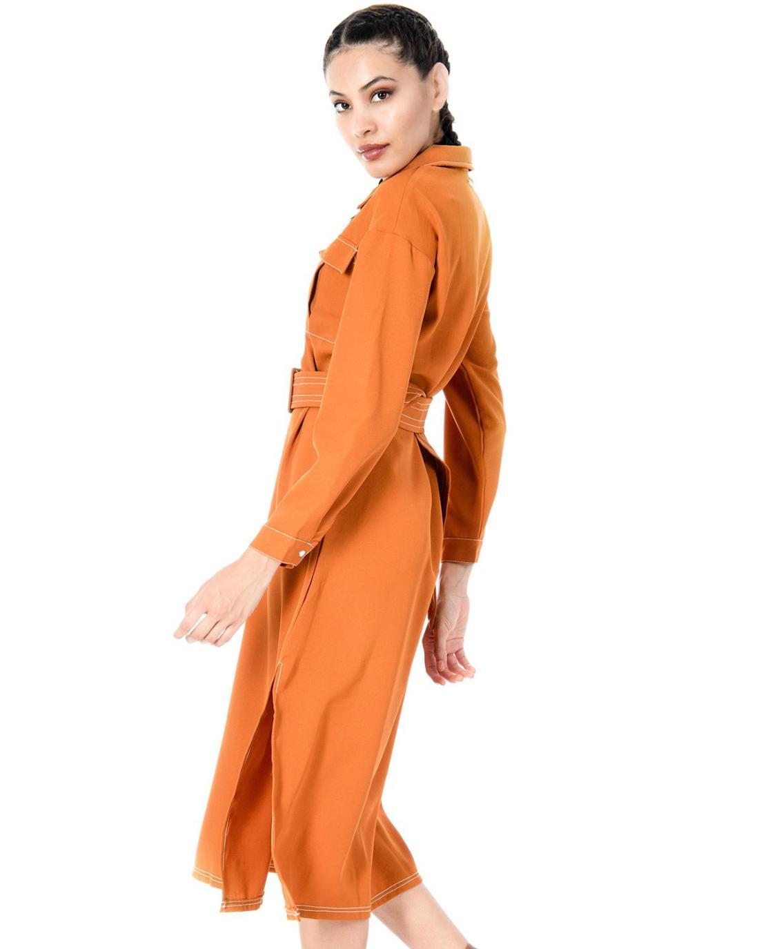 Φόρεμα κάμελ