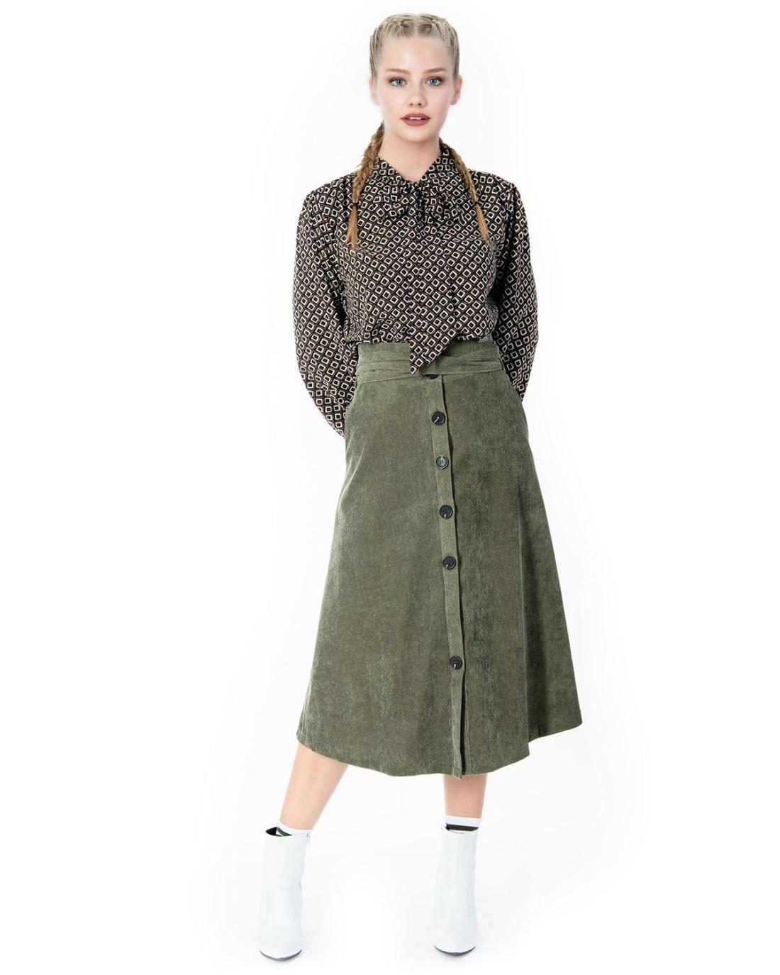 Khaki skirt