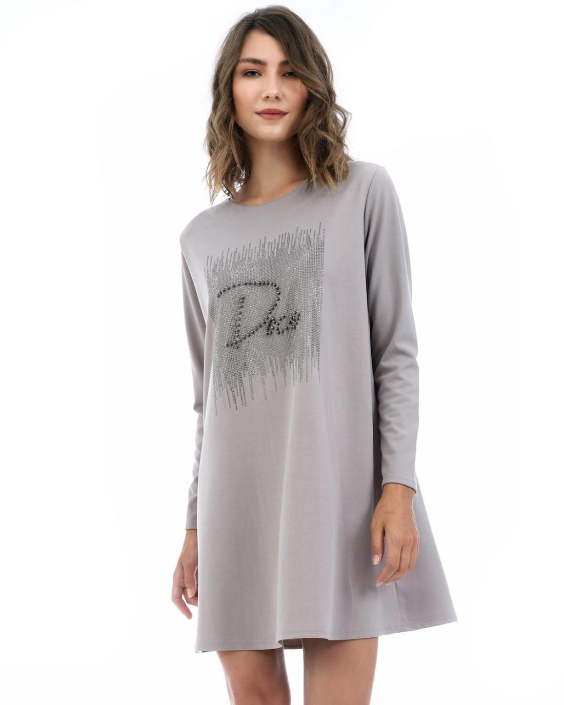 Graues Kleid