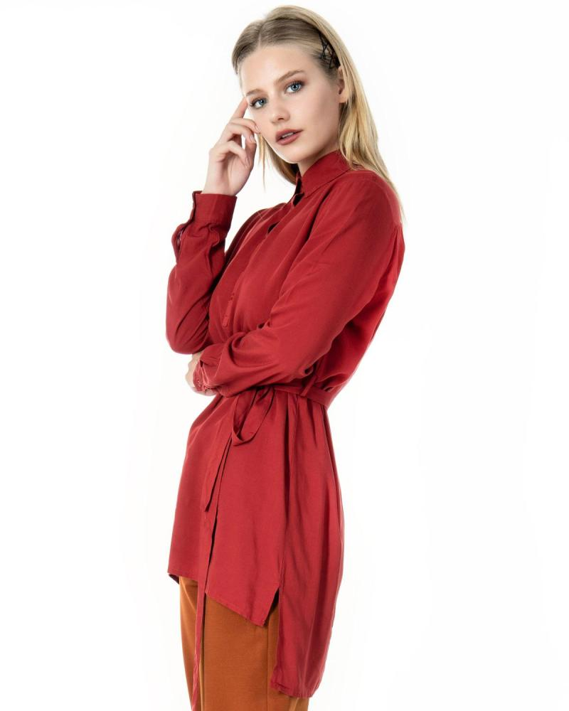 Bordeaux shirtdress