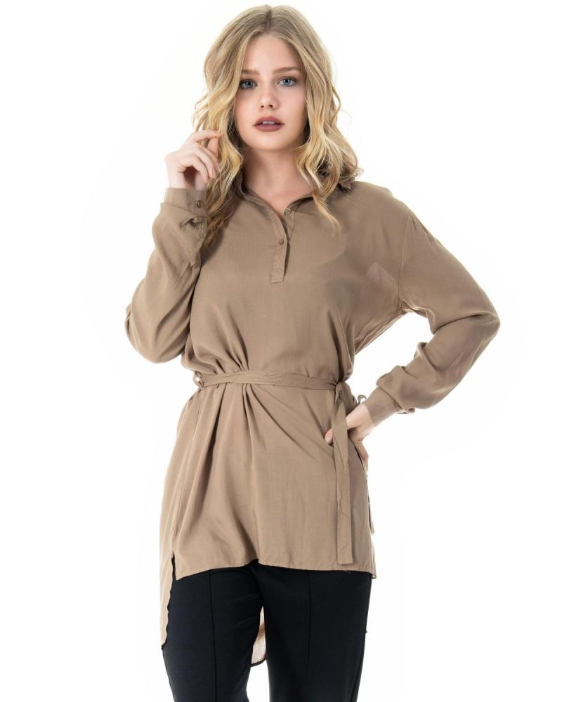 Khaki shirtdress