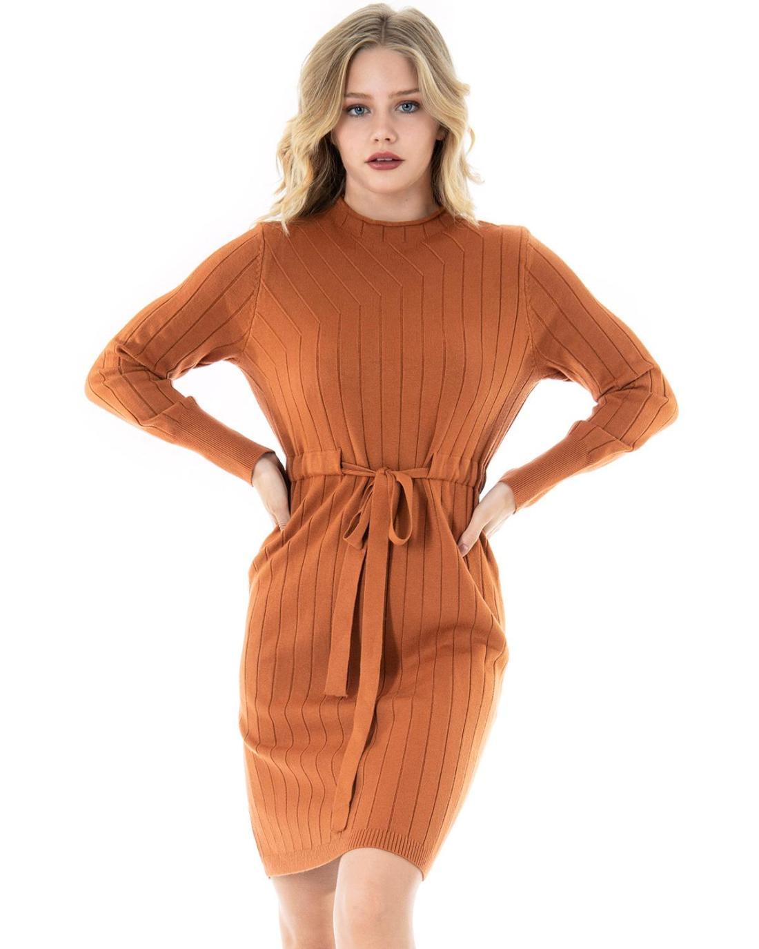 Oranges Hemdkleid