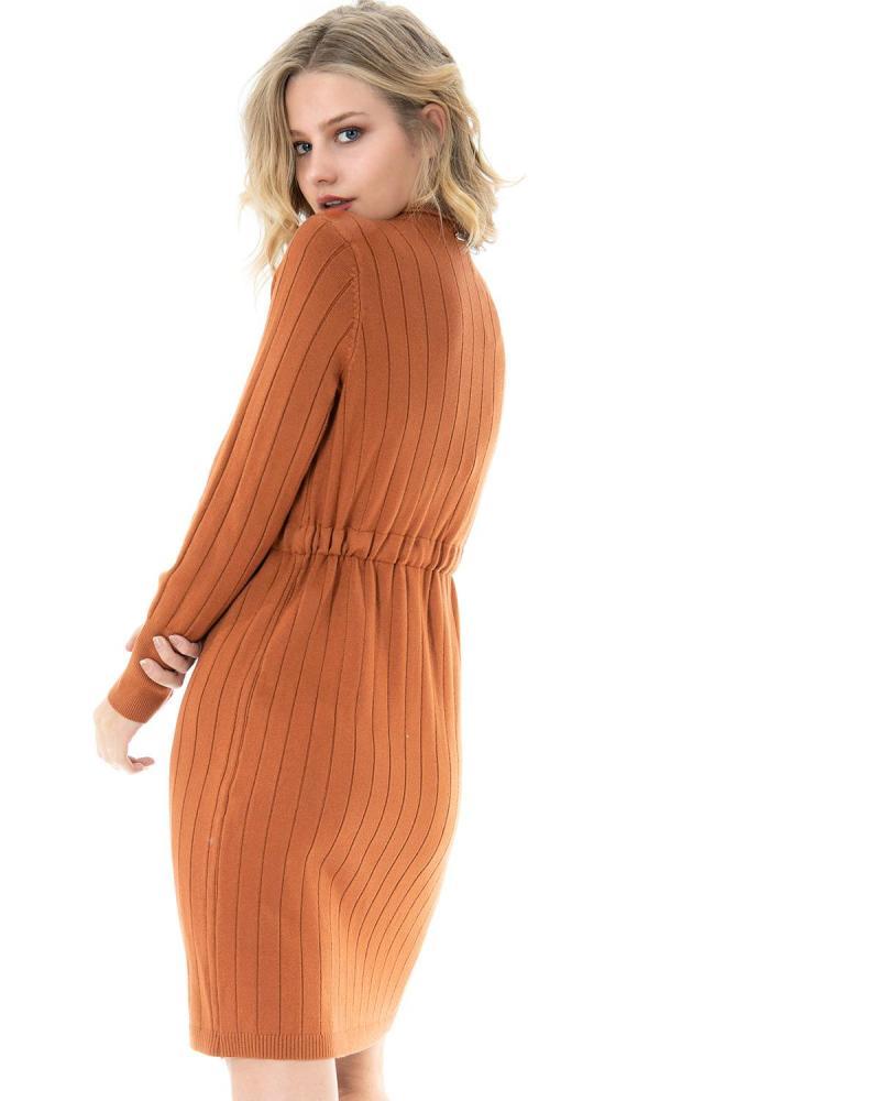 Orange shirtdress