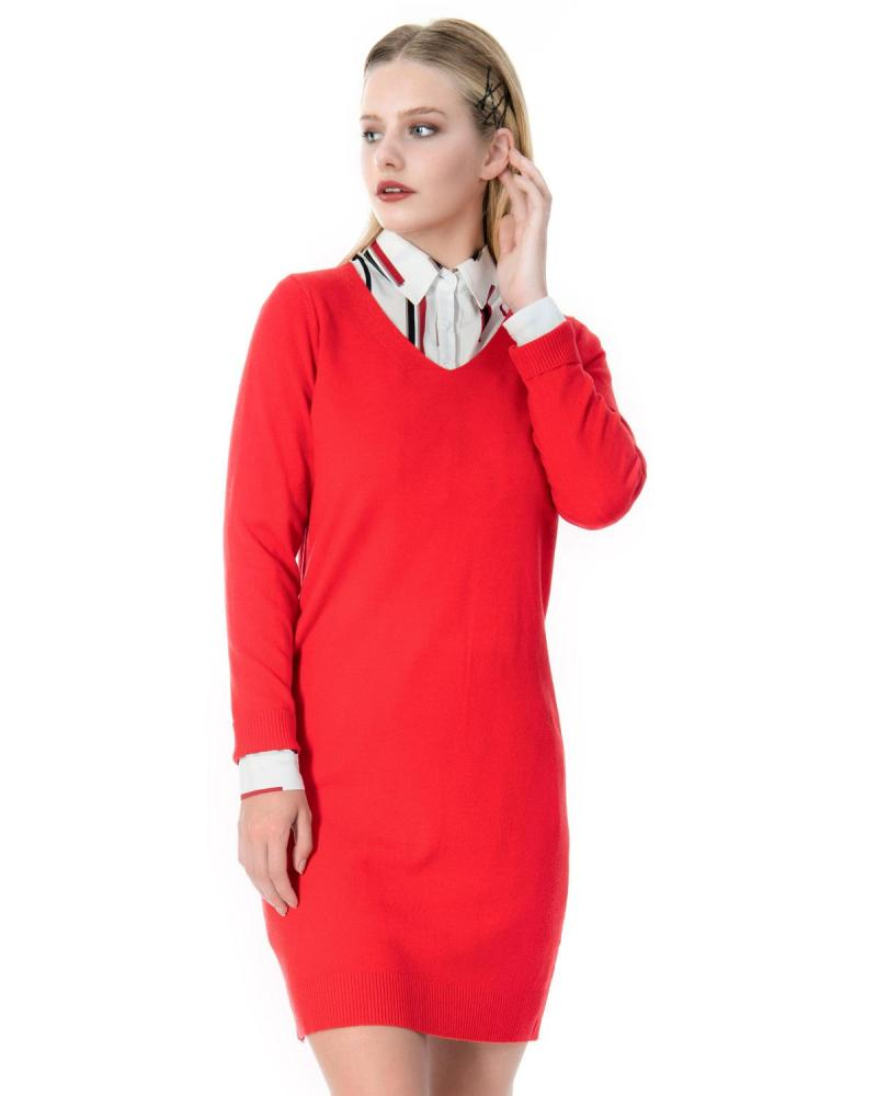 Red shirtdress