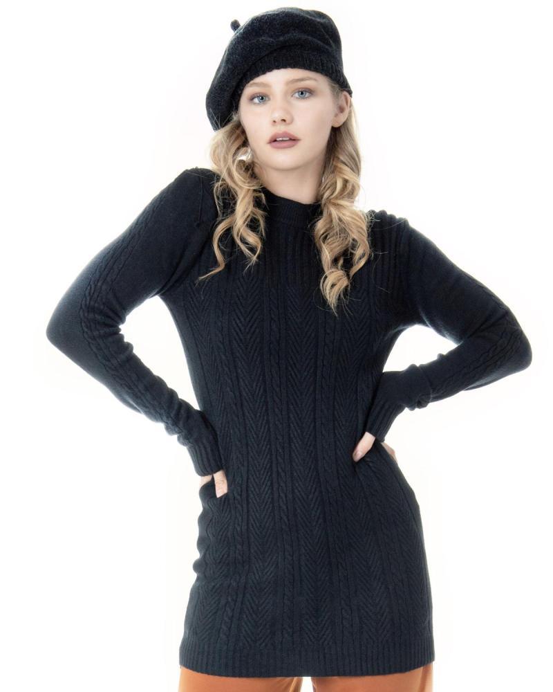 Black shirtdress