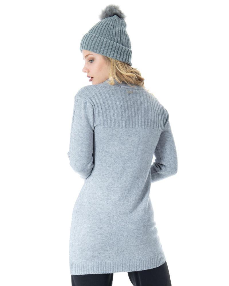 Grey shirtdress