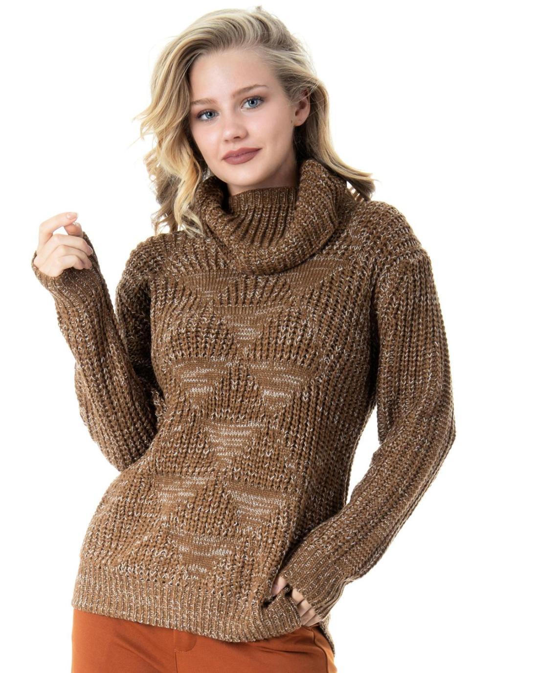Brauner Pullover