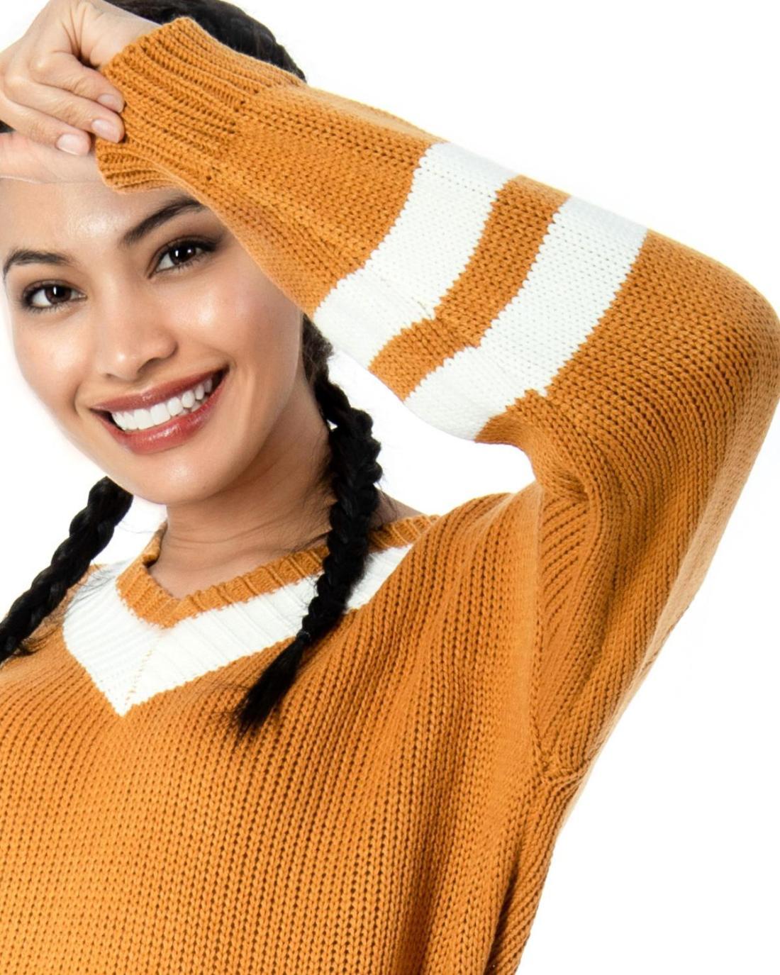 Gelber Pullover
