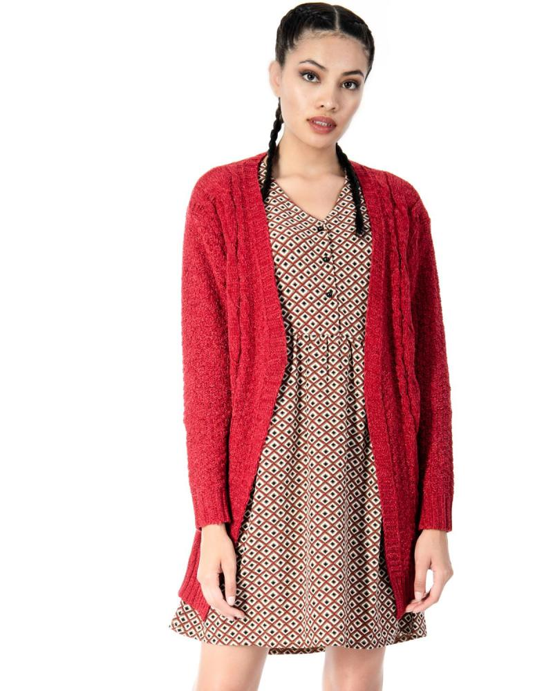 Bordeaux Strickjacke