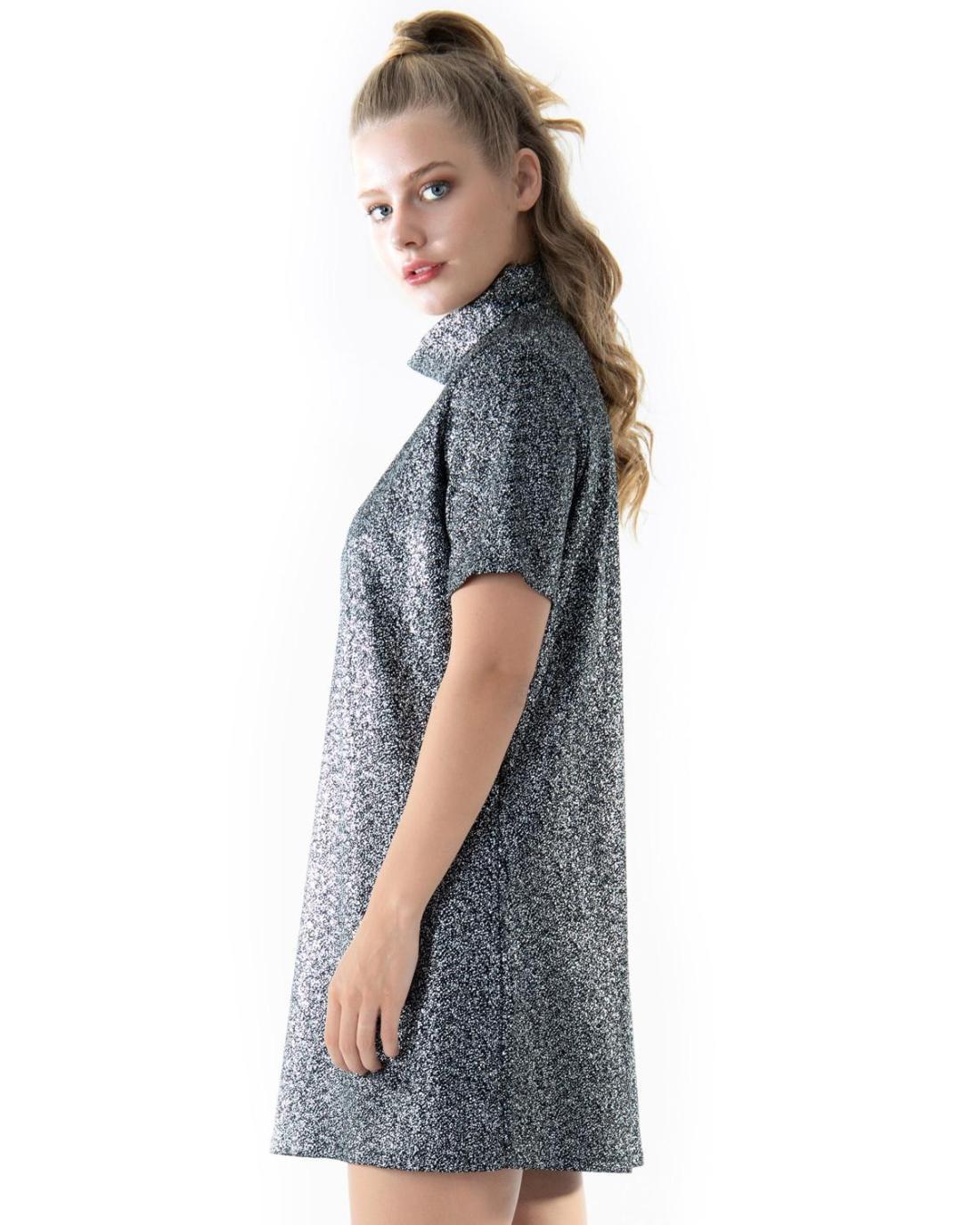 Φόρεμα ασημί