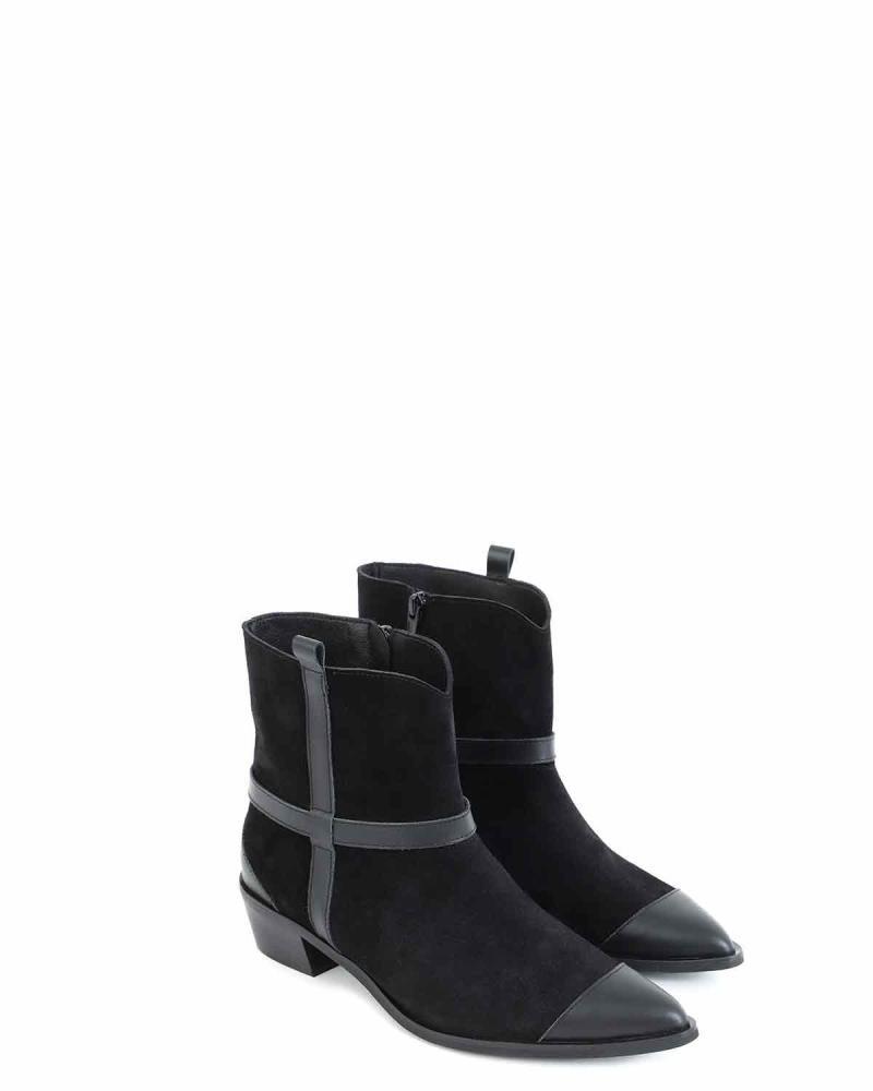 Δερμάτινες μπότες μαύρες