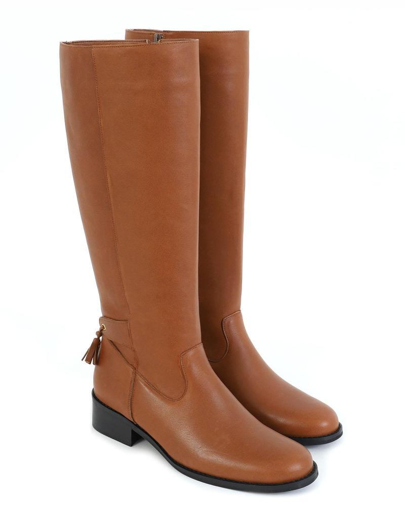 Braune Leder Stiefel