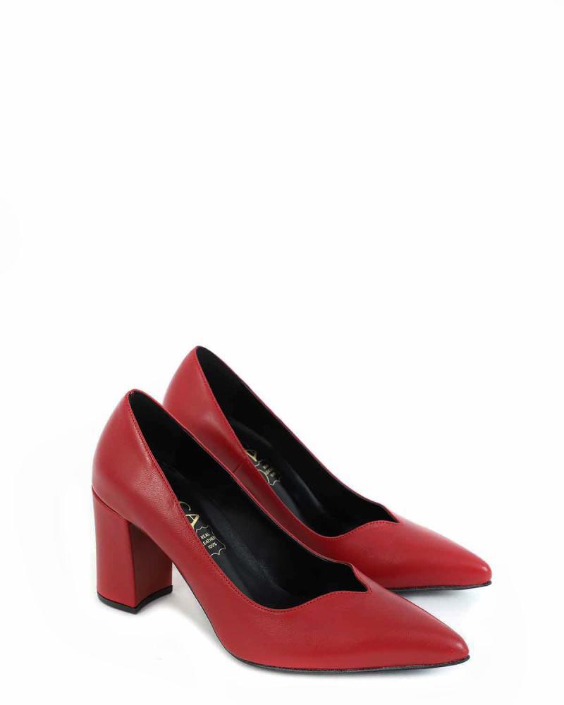 Rote Leder Schuhe