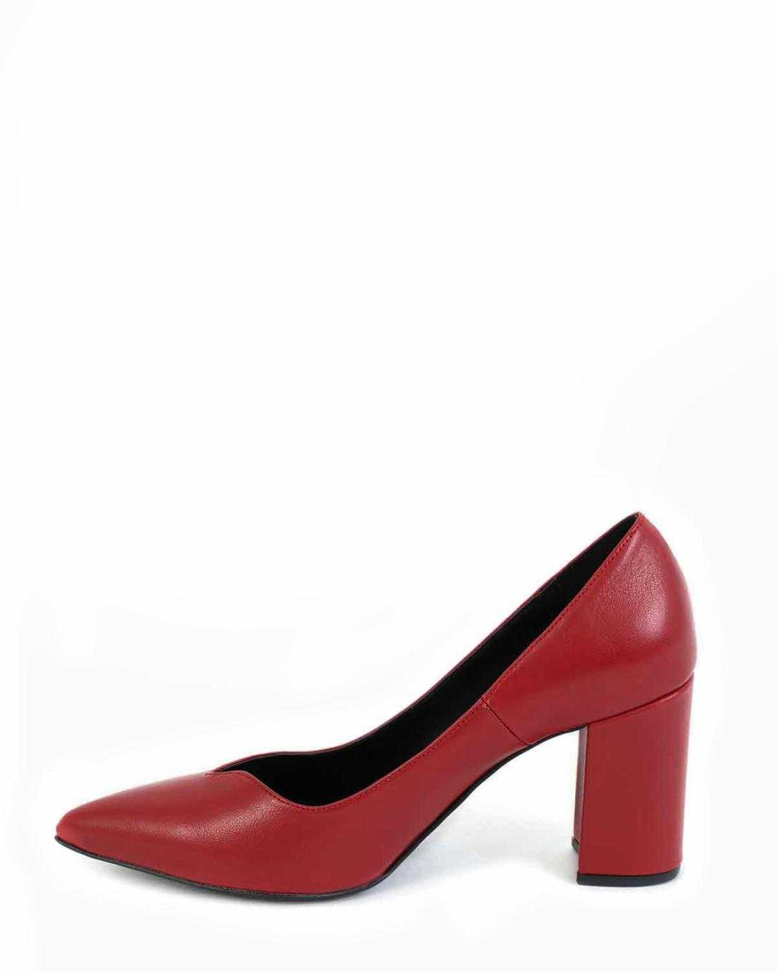 Red leather heels