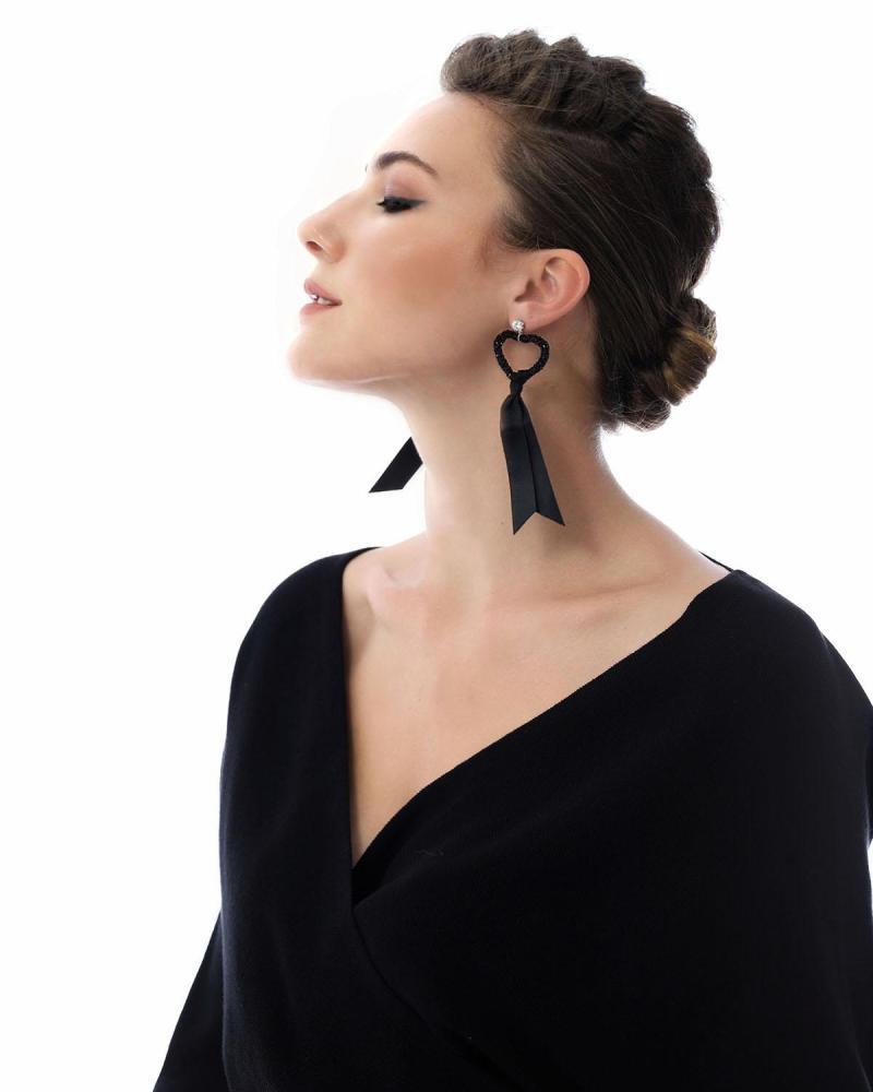 Σκουλαρίκια μαύρα
