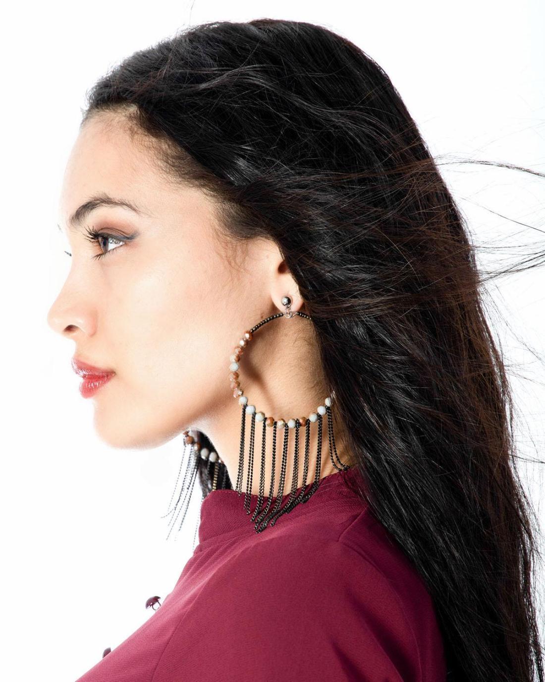 Ohrringe mehrfarbig