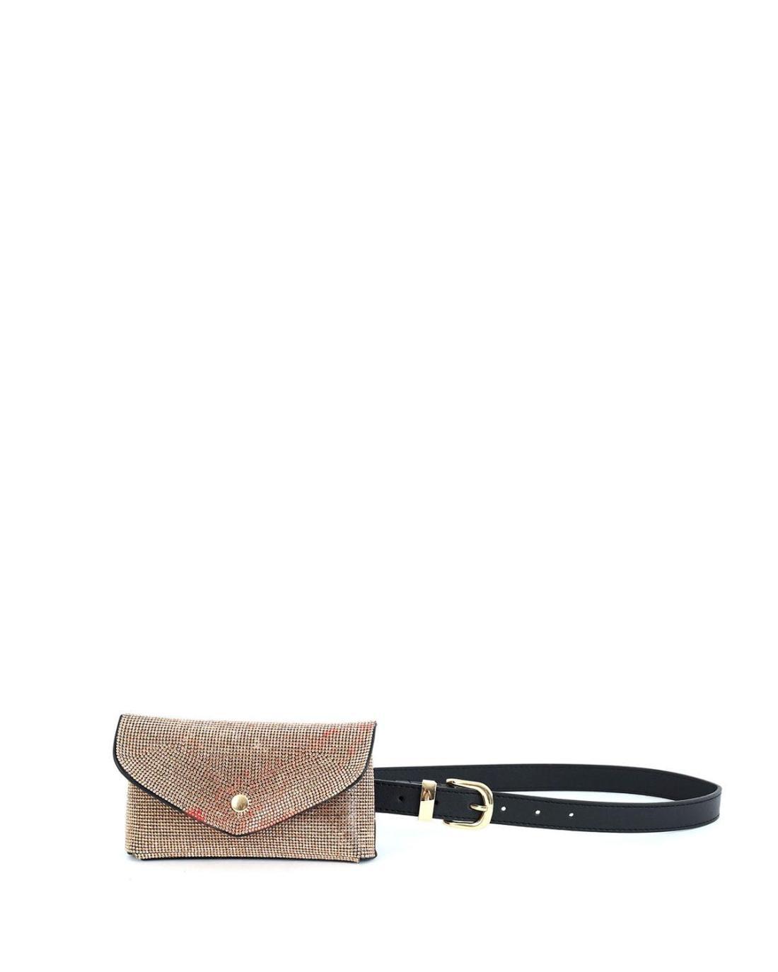 Gold belt bag