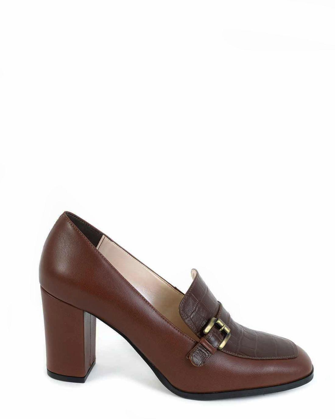 Braune Leder Loafers