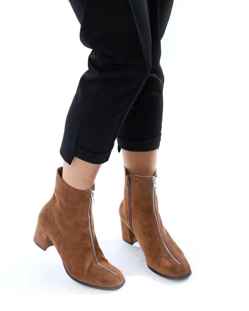 Braune Leder Ankle Boots