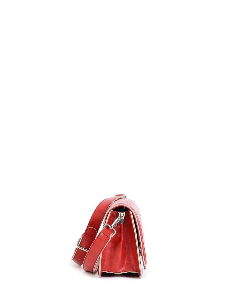 Rote umhängetasche