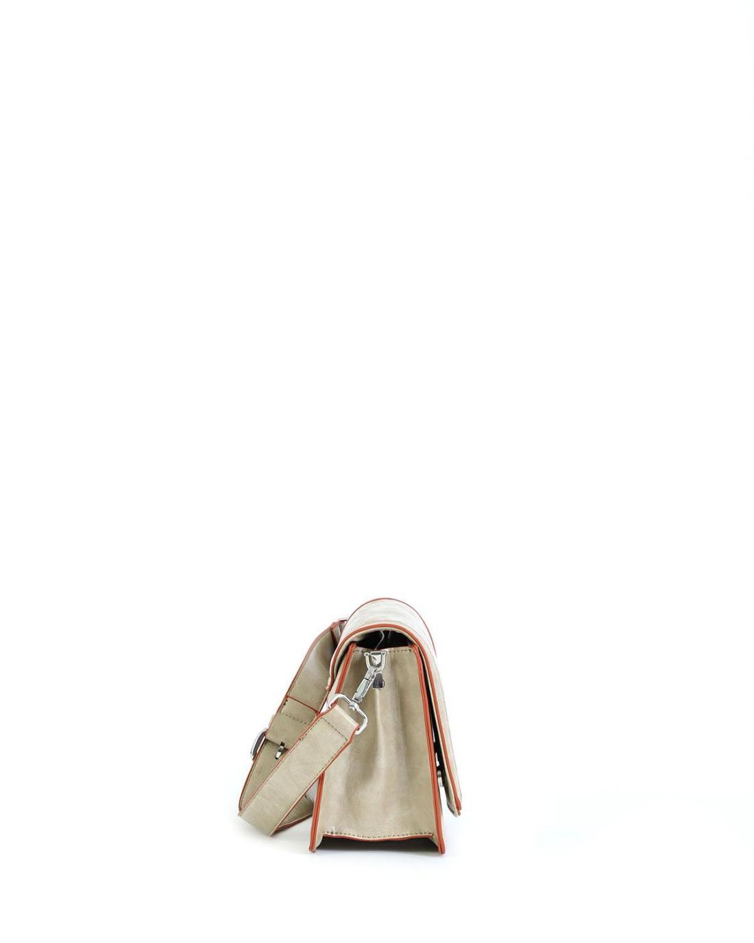 Τσάντα χιαστί μπεζ