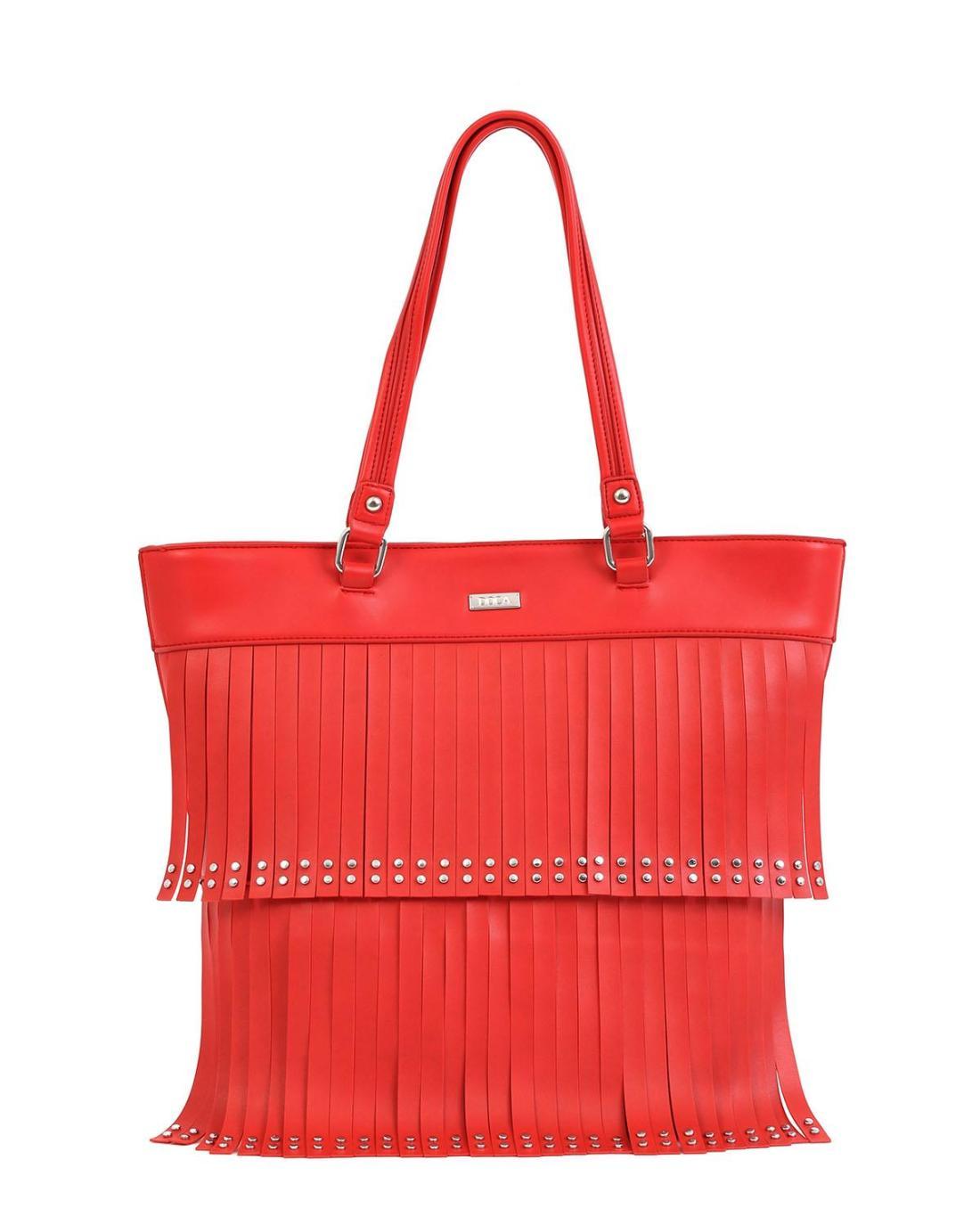 Καθημερινή τσάντα χειρός/ώμου κόκκινη