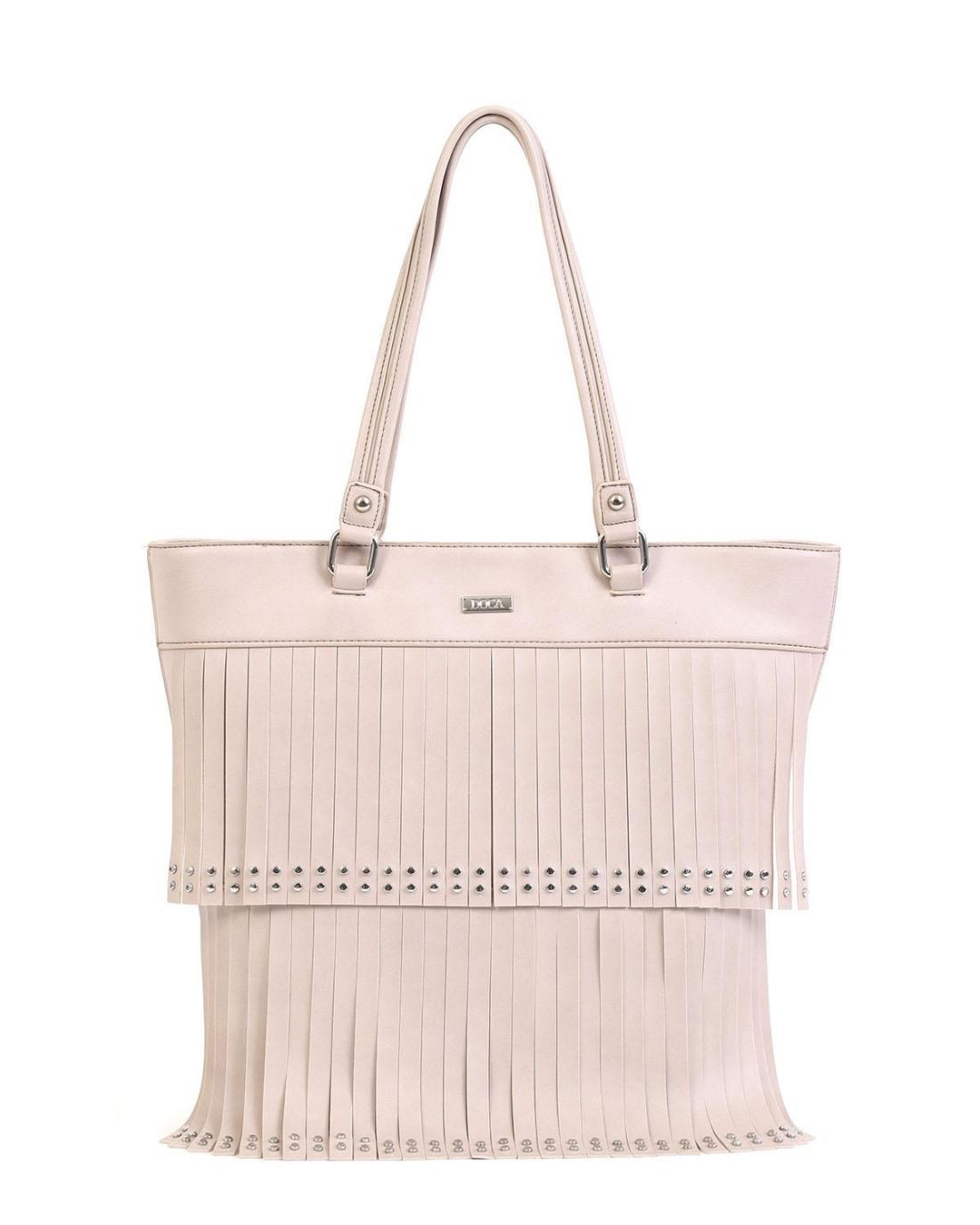 Graue handtasche