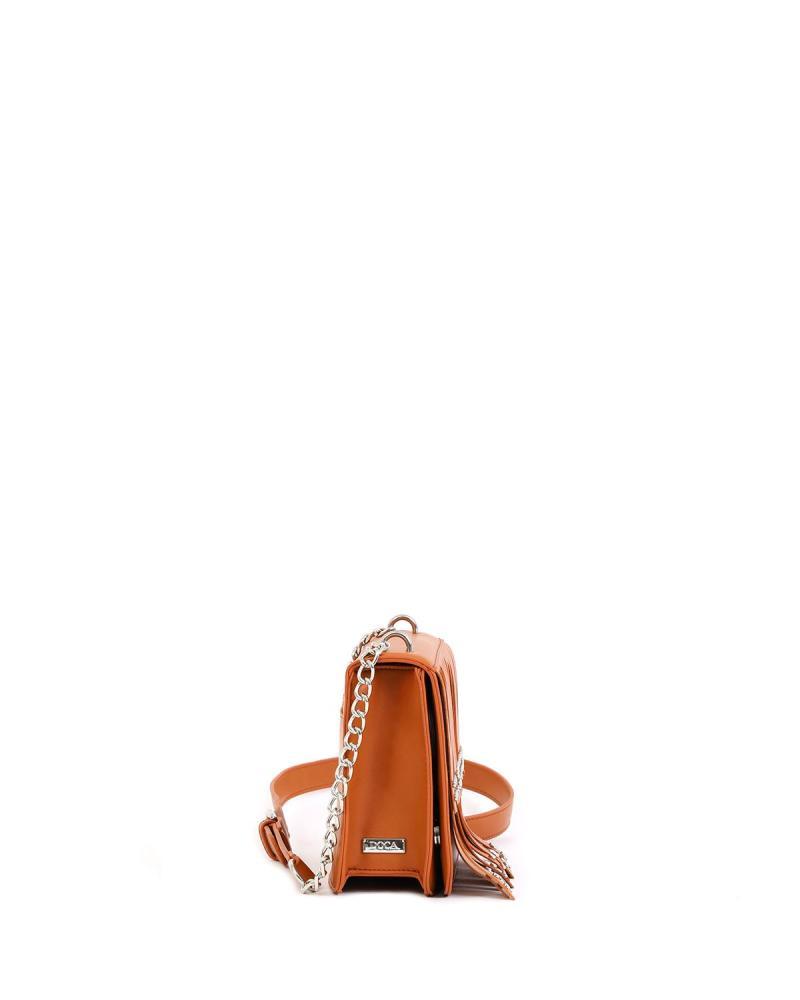 Τσάντα χιαστί κάμελ