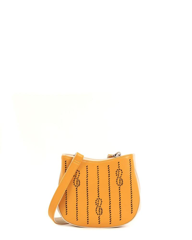 Yellow cross body bag