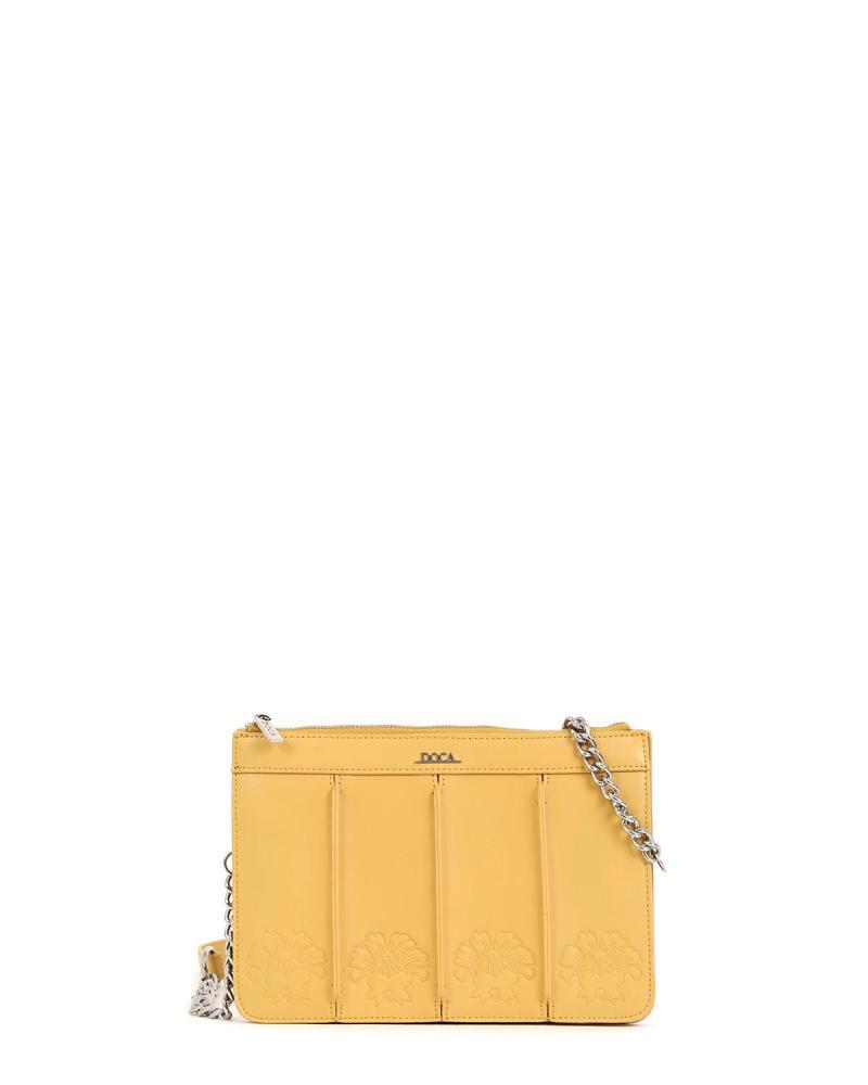 Τσάντα χιαστί κίτρινη