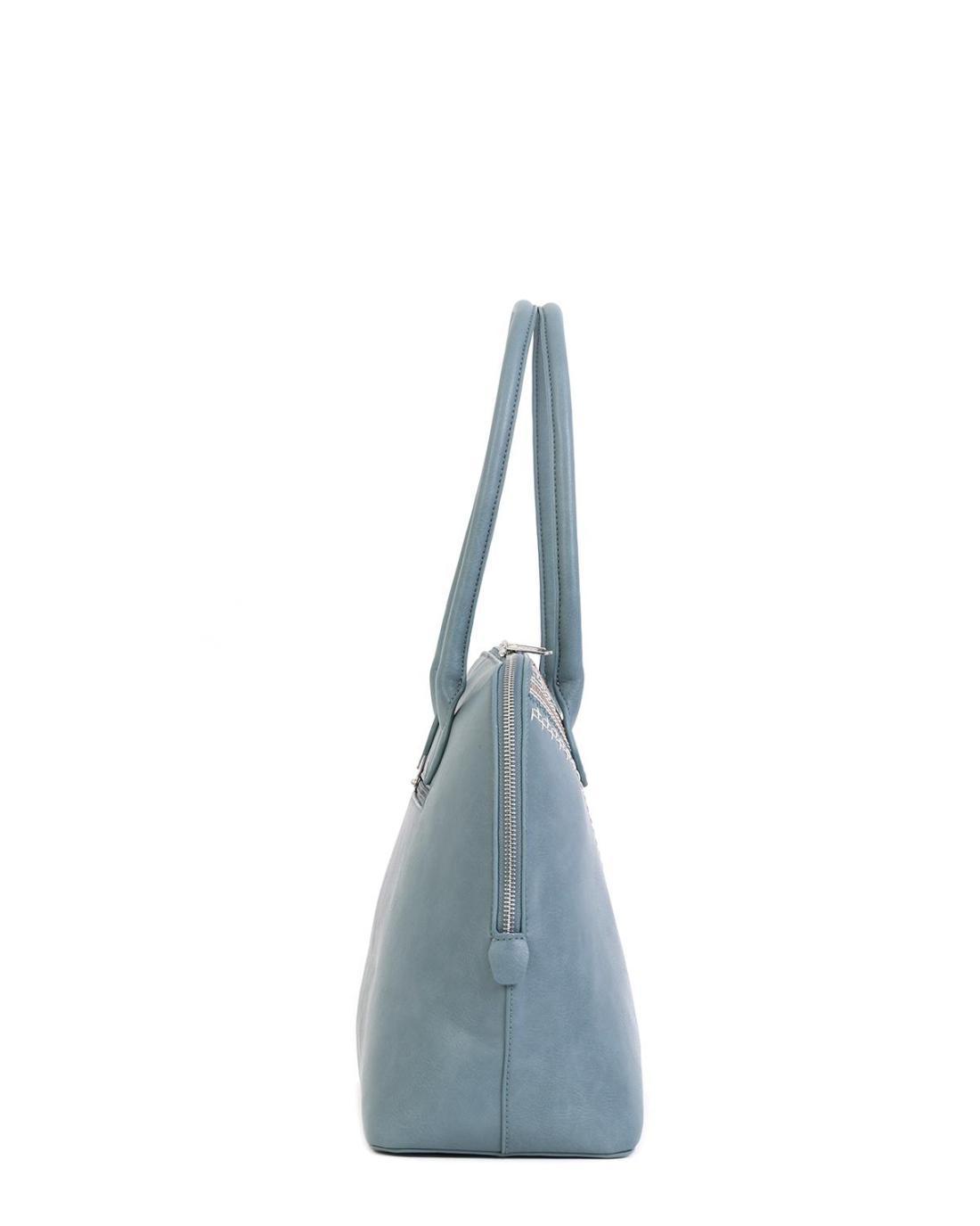 Hellblaue handtasche