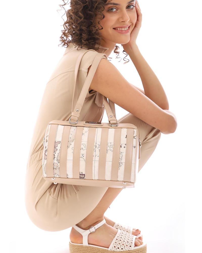 Καθημερινή τσάντα χειρός/ώμου μπεζ