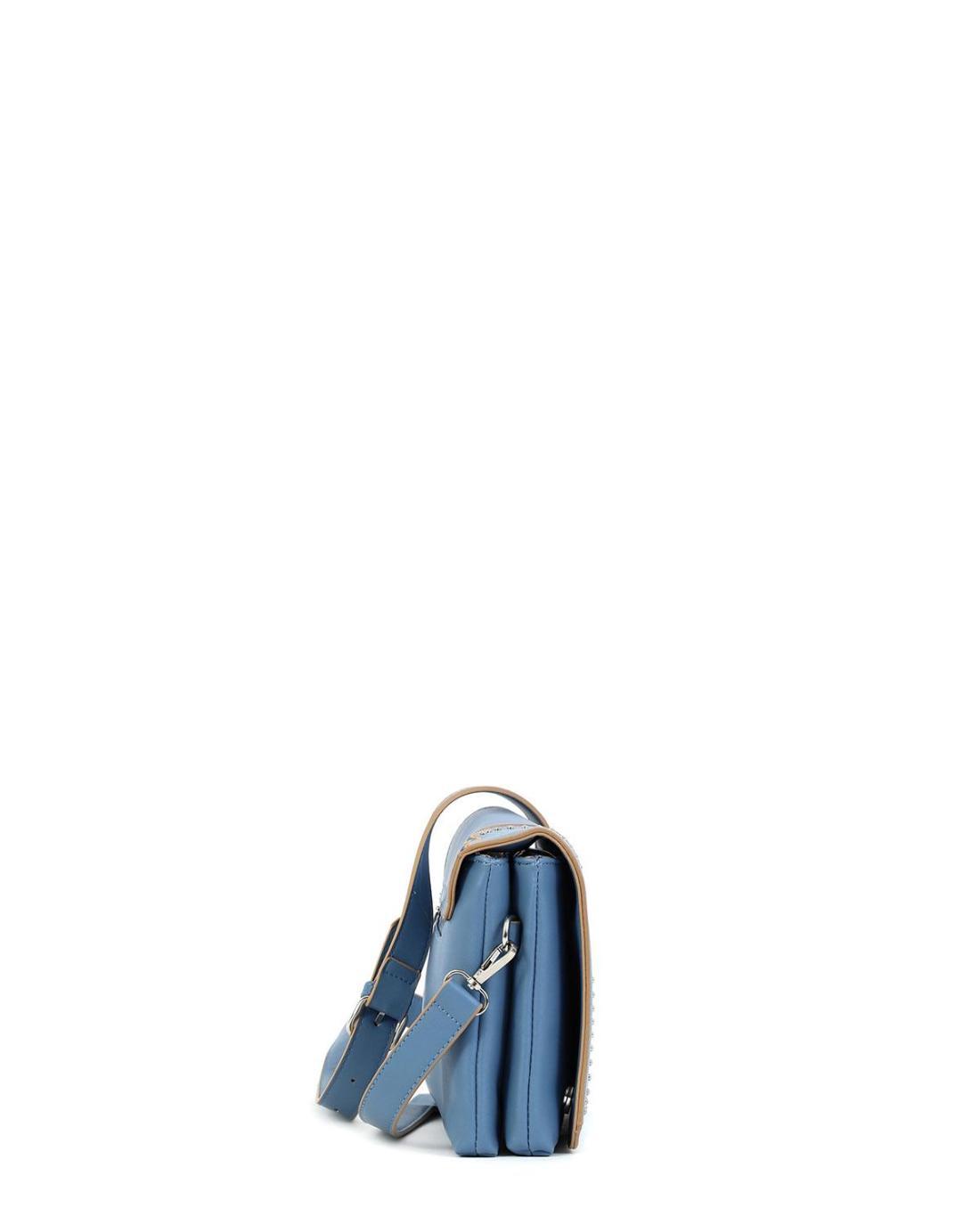 Blaue umhängetasche