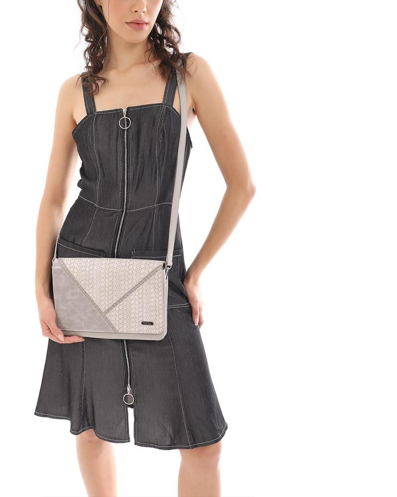 Grey cross body bag