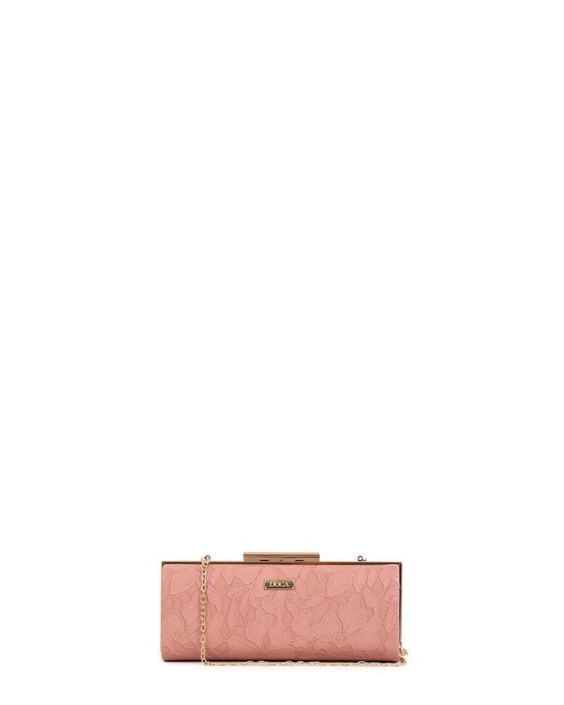 Βραδινό τσαντάκι clutch ροζ