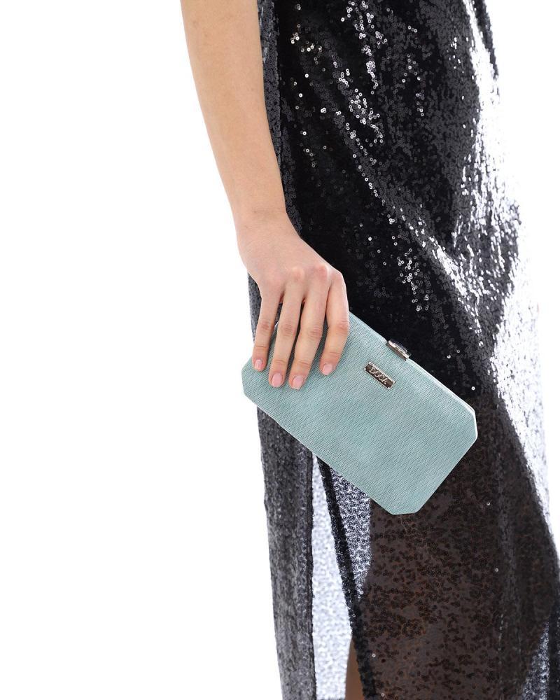 Hellblau clutch-tasche