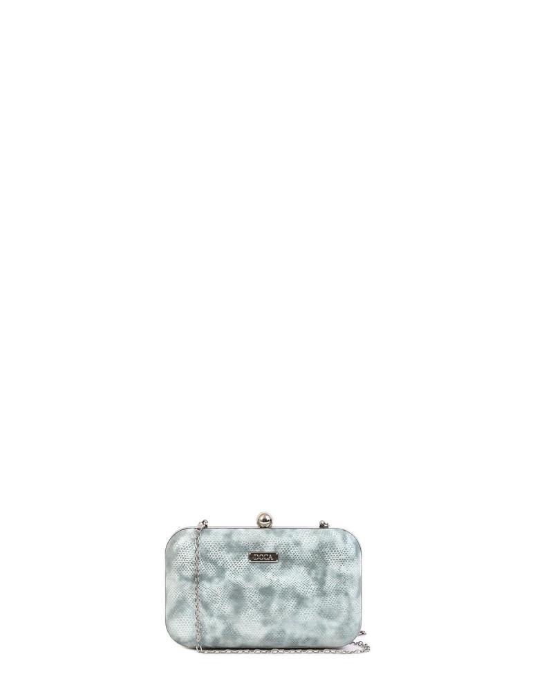 Grau clutch-tasche