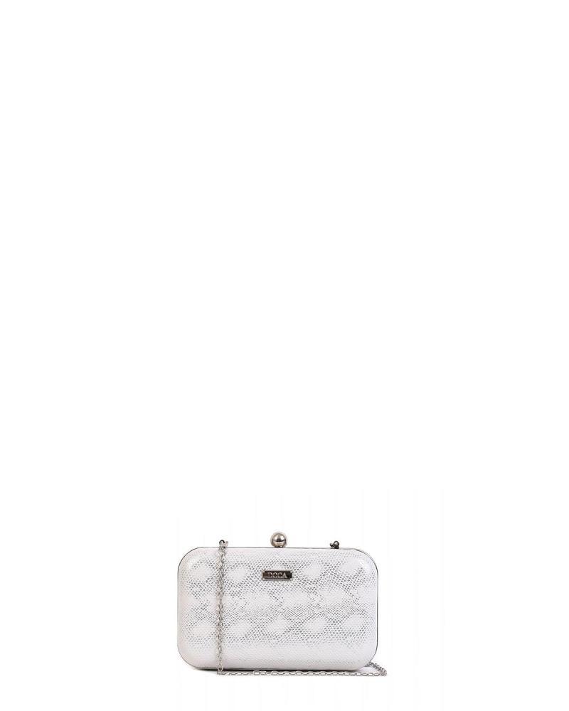 Weiß clutch-tasche