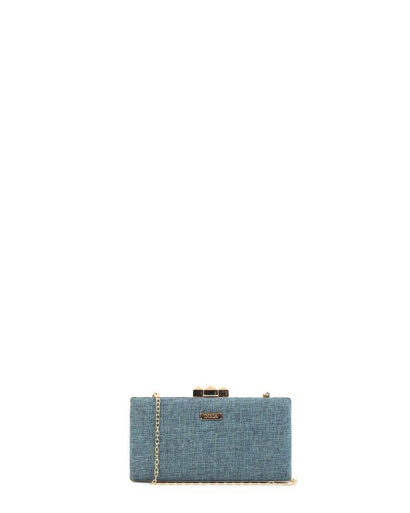 Blau clutch-tasche