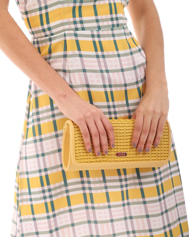 Gelbe umschlagtasche