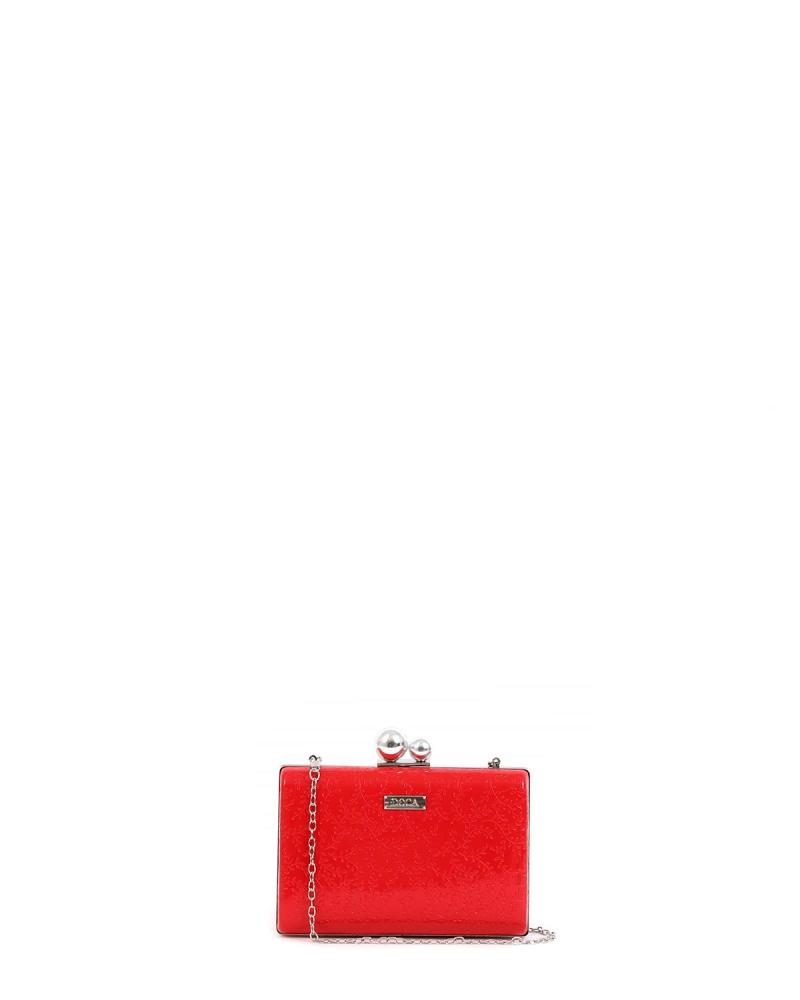 Rot clutch-tasche
