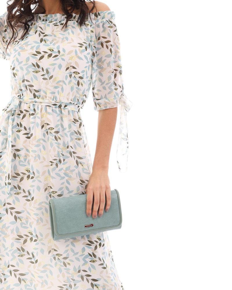Minzgrüne umschlagtasche