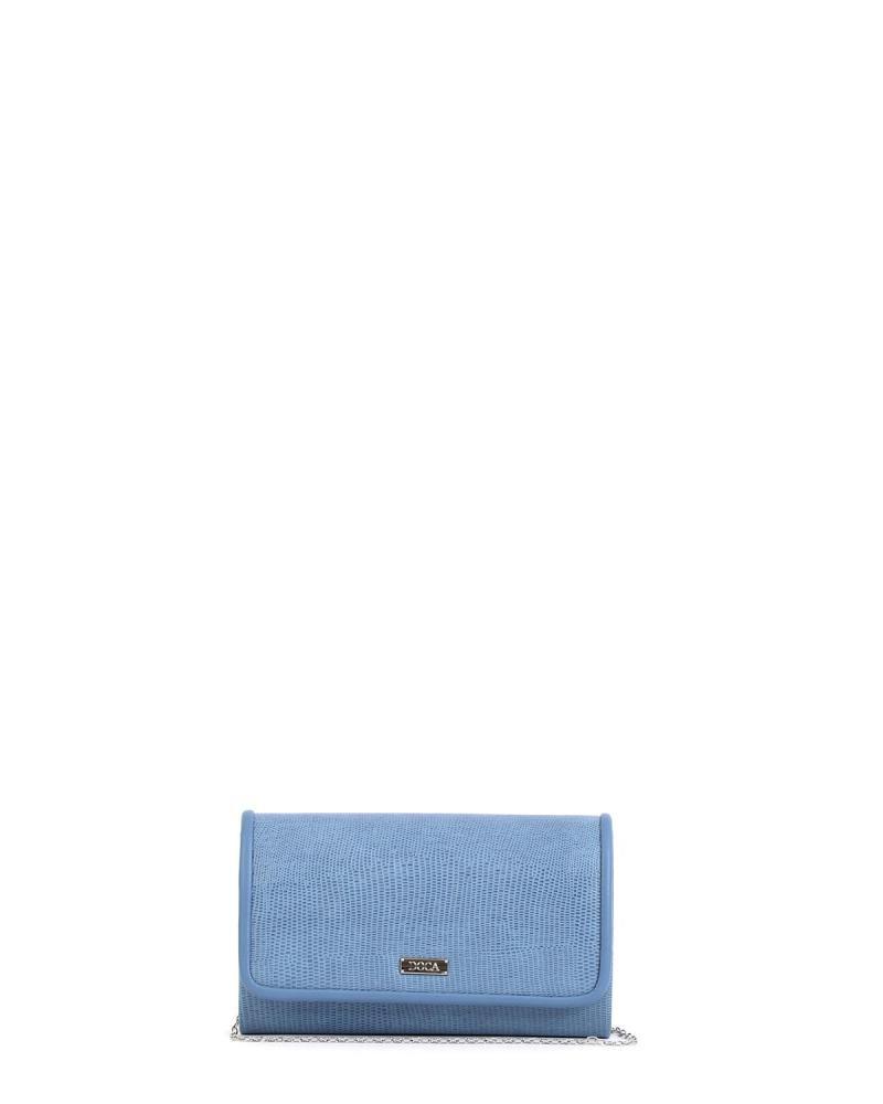 Blaue umschlagtasche