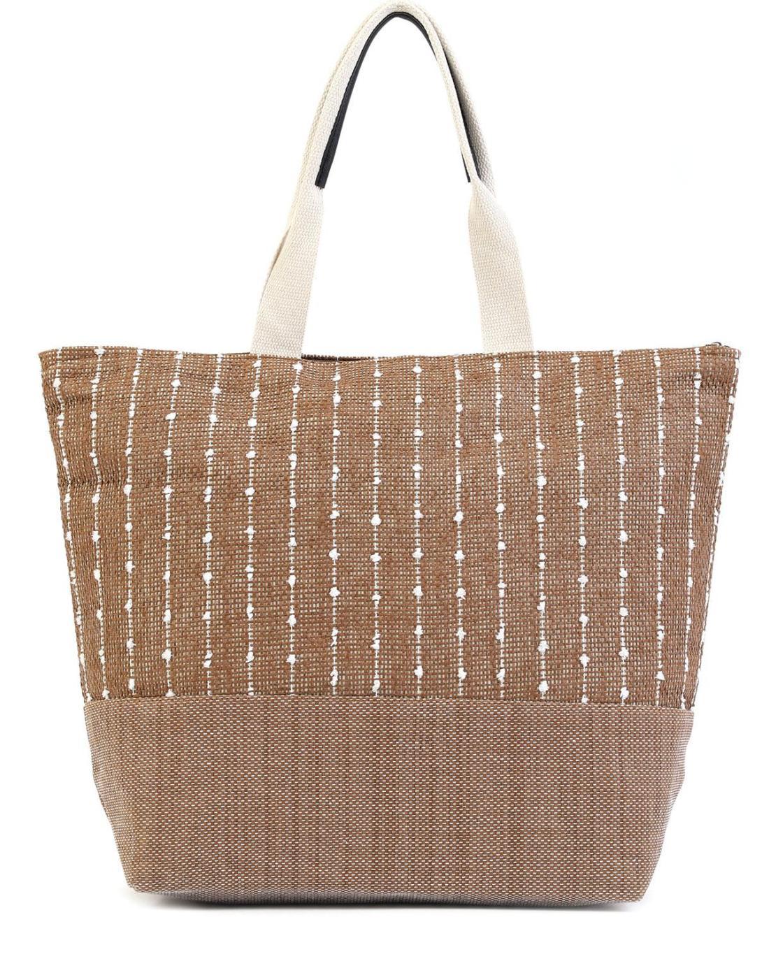 Τσάντα θαλάσσης καφέ