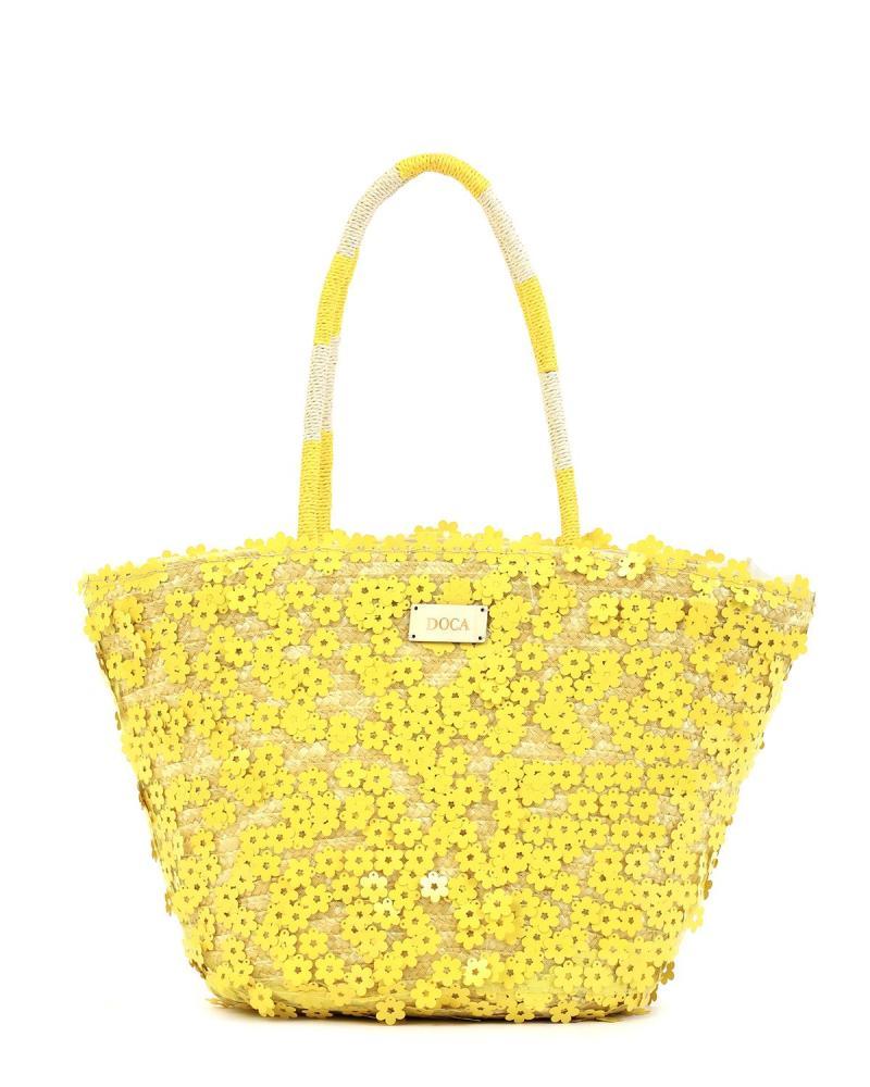 Gelbe strandtasche